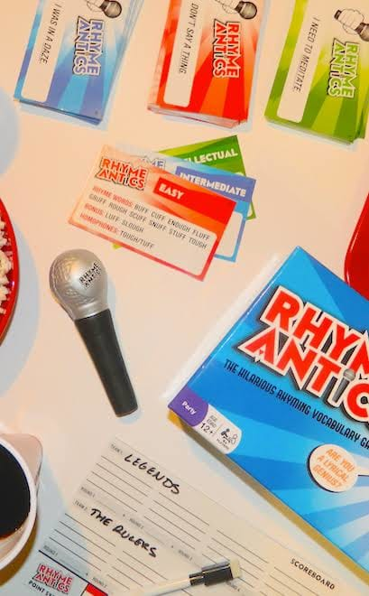 Rhyme antics board game
