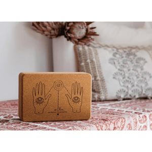 Cork Yoga Block-I Am One With the Universe - Emilia Rose Art Eco Yoga Mats