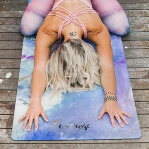 INTERGALACTIC YOU + ME ECO YOGA MAT & FREE JUTE STRAP - Emilia Rose Art Eco Yoga Mats