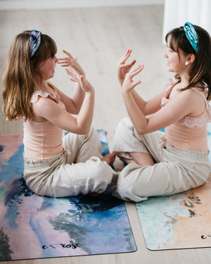 Kids yoga mat-Tranquility - Emilia Rose Art Eco Yoga Mats