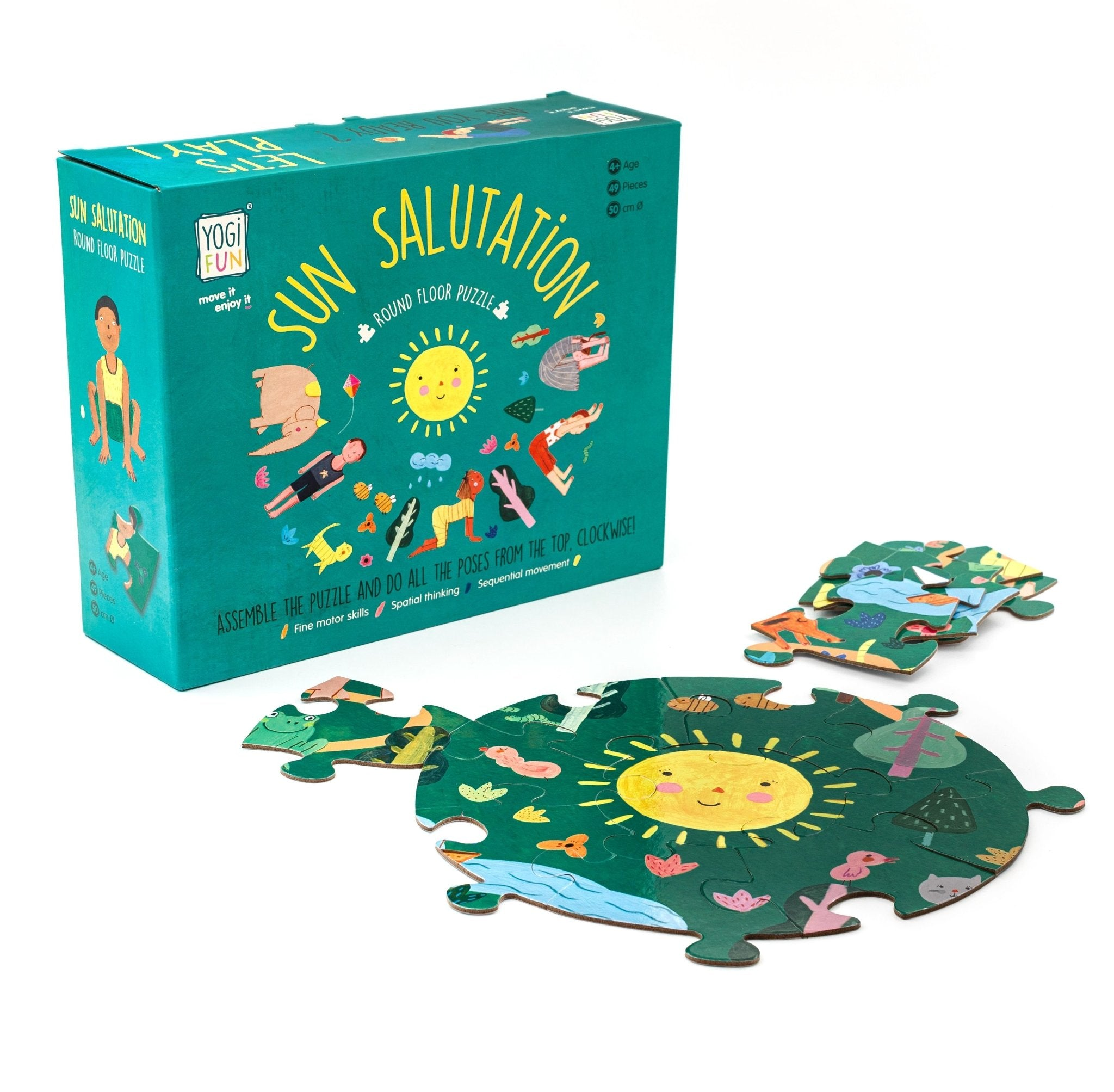 Sun Salutations Puzzle - Emilia Rose Art Eco Yoga Mats