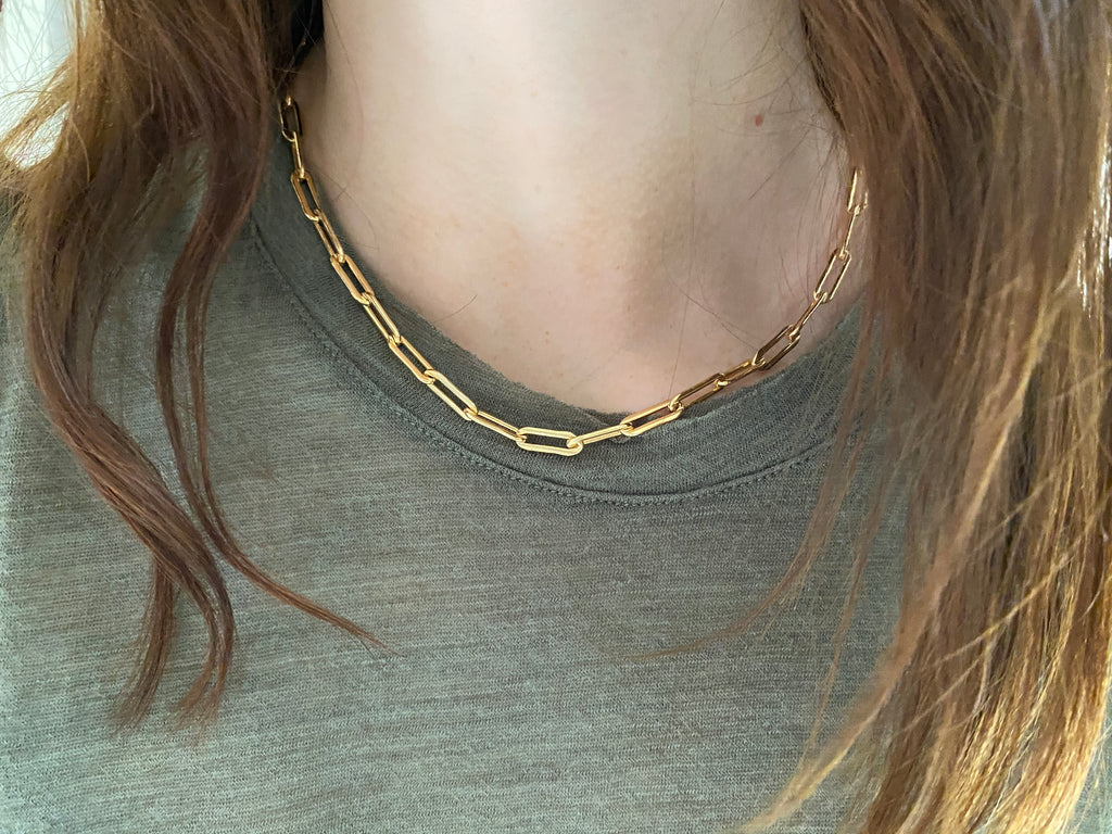 RECTANGLE LINK CHAIN CHOKER