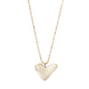 RAW MEDIUM HEART NECKLACE GOLD