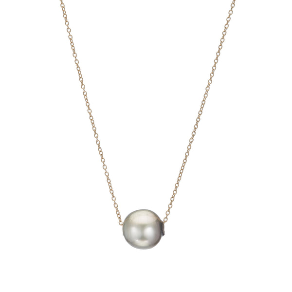 TAHITIAN PEARL ON CABLE CHAIN