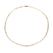 Micro Rectangle Chain Choker - Gold