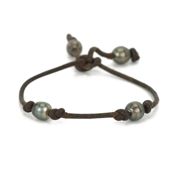 TAHITIAN 4 PEARL SPACED BRACELET