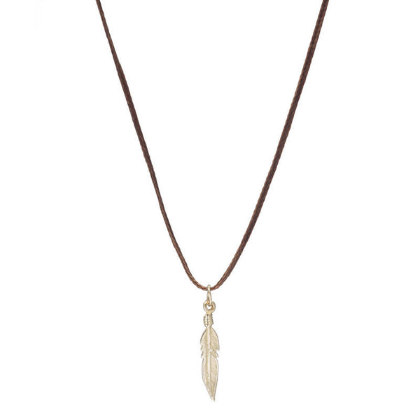 FEATHER NECKLACE ON CORD