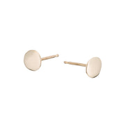 Raw Flat Disc Earrings - Gold