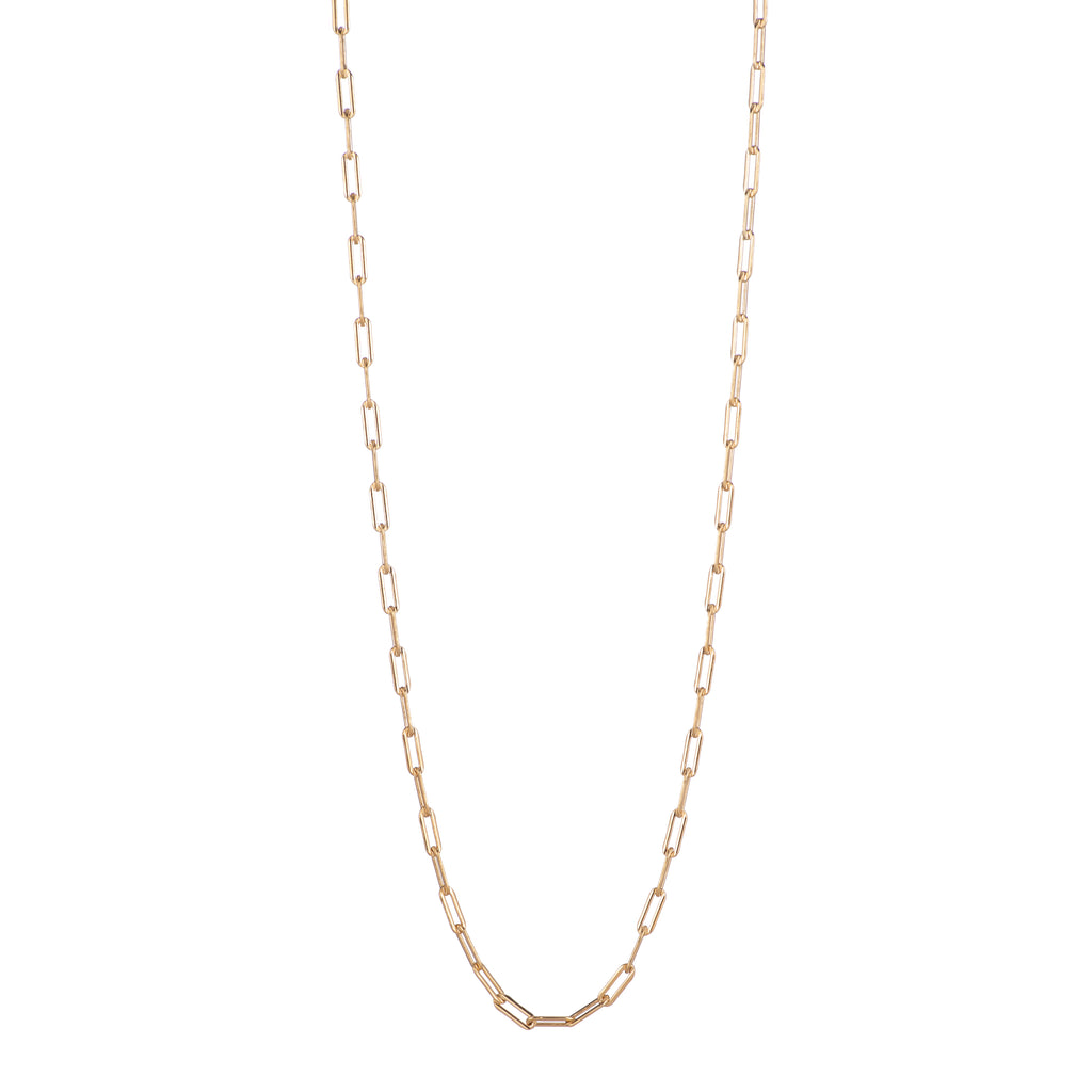 RECTANGLE CHAIN LONG NECKLACE