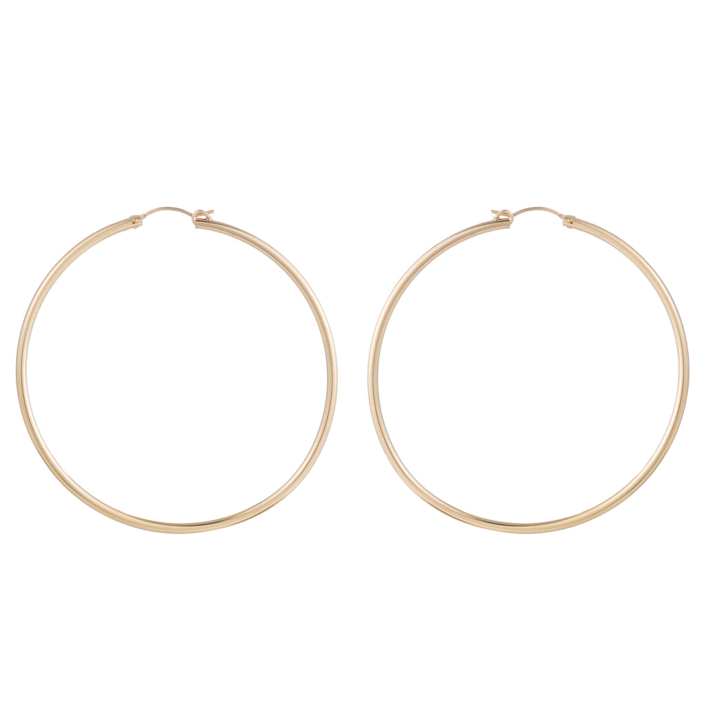 LARGE THIN HOOPS 70MM