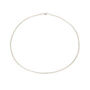 Thin Box Chain Choker - Sterling Silver