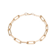 Rectangle Link Chain Bracelet - 14K Gold Filled