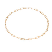 Rectangle Link Chain Choker - Gold