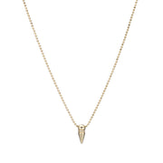 Spike Necklace with Diamonds - Gold