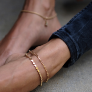 DISC CHAIN ANKLET