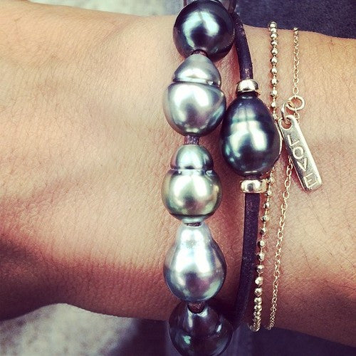 TAHITIAN 1 PEARL WRAP BRACELET/NECKLACE
