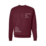 Maroon Outside My Mind Sweatshirt