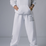 White Seek Life Sweatpants