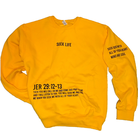 Yellow Seek Life Sweatshirt