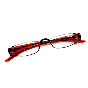 Red Reading Glasses Power + 200