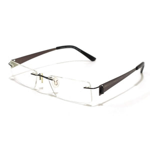 Grey Rimless Blue Light Blocker Computer Glasses 2001GM
