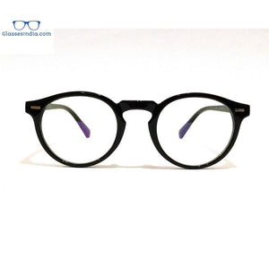 Round Blue Light Blocker Computer Glasses Anti Blue Ray Eyeglasses - GlassesIndia