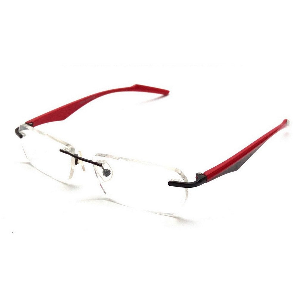 Red Rimless Blue Light Blocker Computer Glasses 29044RD