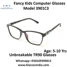 Load image into Gallery viewer, Kids Computer Glasses Blue Light Blocker Anti Blue Ray Eyeglasses  3901C3