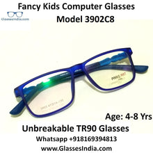 Load image into Gallery viewer, Kids Computer Glasses Blue Light Blocker Anti Blue Ray Eyeglasses  3902C8