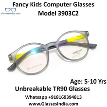 Load image into Gallery viewer, Round Kids Computer Glasses Blue Light Blocker Anti Blue Ray Eyeglasses  3903C2