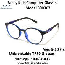 Load image into Gallery viewer, Round Kids Computer Glasses Blue Light Blocker Anti Blue Ray Eyeglasses  3903C7