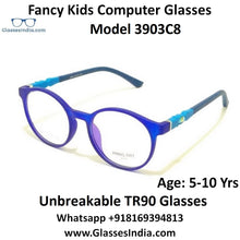 Load image into Gallery viewer, Round Kids Computer Glasses Blue Light Blocker Anti Blue Ray Eyeglasses  3903C8