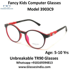 Load image into Gallery viewer, Round Kids Computer Glasses Blue Light Blocker Anti Blue Ray Eyeglasses  3903C9