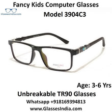 Load image into Gallery viewer, Kids Computer Glasses Blue Light Blocker Anti Blue Ray Eyeglasses  3904C3