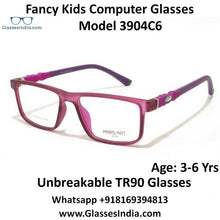 Load image into Gallery viewer, Kids Computer Glasses Blue Light Blocker Anti Blue Ray Eyeglasses  3904C6