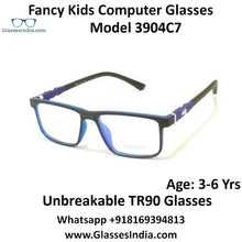 Load image into Gallery viewer, Kids Computer Glasses Blue Light Blocker Anti Blue Ray Eyeglasses  3904C7