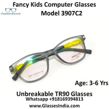 Load image into Gallery viewer, Kids Computer Glasses Blue Light Blocker Anti Blue Ray Eyeglasses  3907C2