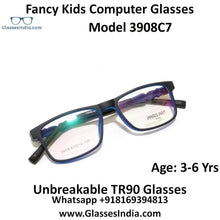 Load image into Gallery viewer, Kids Computer Glasses Blue Light Blocker Anti Blue Ray Eyeglasses  3908C7