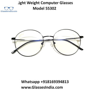 Crytal Light Weight Computer Glasses for Men and Women 55302BK