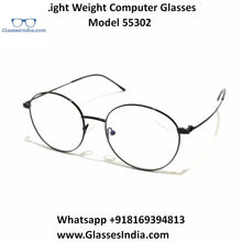 Load image into Gallery viewer, Crytal Light Weight Computer Glasses for Men and Women 55302BK
