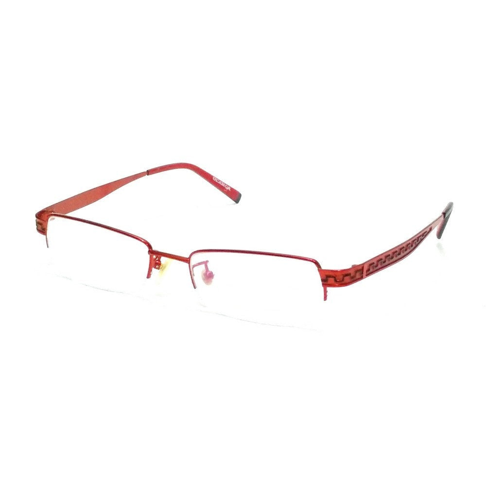 Red Designer Supra Half Rimless Blue Light Blocker Computer Glasses for Women 5610Rd