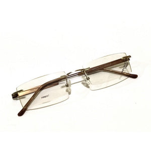 Brown Rimless Blue Light Blocker Computer Glasses 6057BR