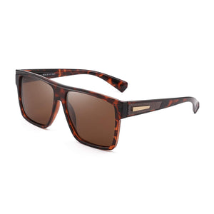 Brown Frame Brown lens Retro Square Polarized Driving Sunglasses for Women and Men