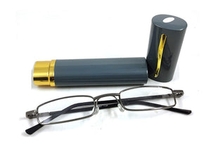 Compact Metal Pen Type Tube Reading Glasses for Men and Women