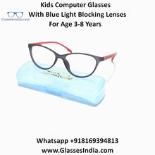Load image into Gallery viewer, Kids Computer Glasses with Blue Light Blocker Lenses 76306C6