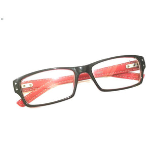 Black Front Red Side Computer Glasses with Anti Glare Coating 8002BKRD