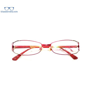 Red Designer Full Frame Blue Light Blocker Computer Glasses for Women 8073RD