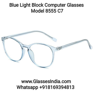 Transparent Blue Anti Blue Light Computer Glasses M8555 C7