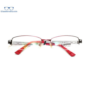 Red Supra Half Rimless Blue Light Blocker Computer Glasses for Women A7083RD