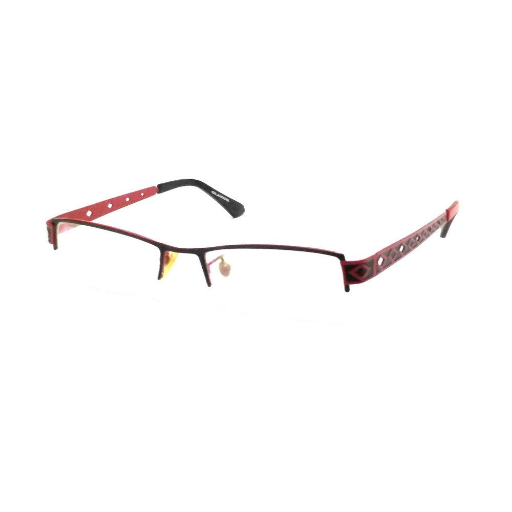 Red Supra Half Rimless Blue Light Blocker Computer Glasses for Women A0558